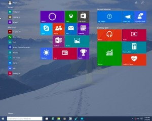 start screen windows 10