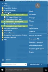 menu start windows 10 dopo la modifica